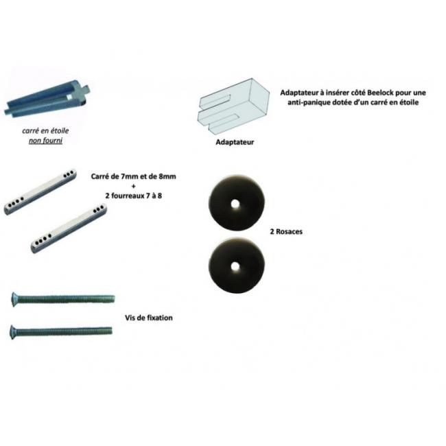 Kit d'adaptation - pour pose avec serrure antipanique - Bicode DUBOIS INDUSTRIES
