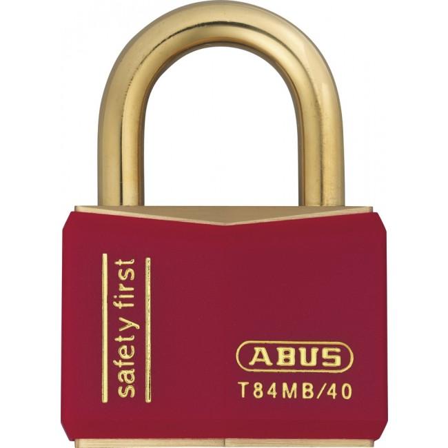 Cadenas à clé - tout laiton – largeur 40 mm - Rouge - Nautic T84MB/40