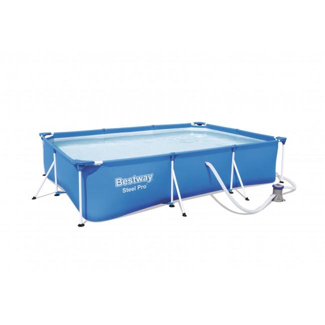 Piscine tubulaire rectangulaire - 300 x 201 x 66 cm - Deluxe Splash BESTWAY