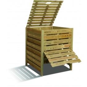 Composteur en bois - 80 x 100 cm - 800 litres - Pratik JARDIPOLYS