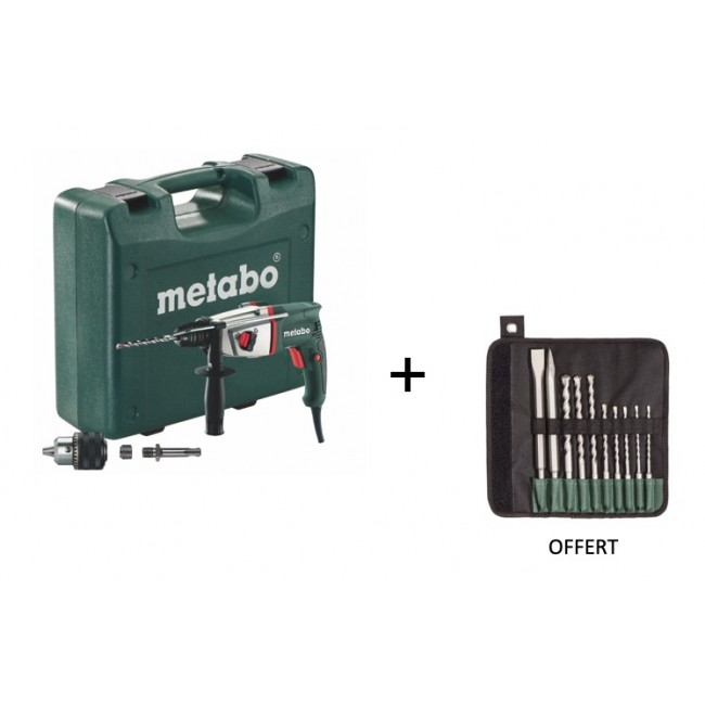 Marteau perforateur SDS+ 800W BHE 2644 690951000 + forets offerts METABO