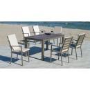 Lot de 2 fauteuils jardin - coussins tissus dralon - PALMA 3 HEVEA