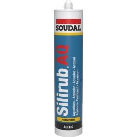 Mastic silicone acétique - pour construction en verre - Silirub AQ SOUDAL