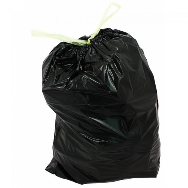 Sacs poubelle noirs - 50 litres - avec liens coulissants BRICOZOR