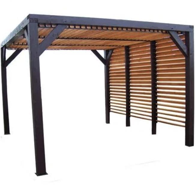 Pergola à vantelles mobiles - 3,48 x 3,6 m - hauteur 2,17 m - Veneto HABRITA