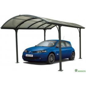 Auvent aluminium pour 1 voiture - 3 x 4,8 m - CAR3048ALRP HABRITA