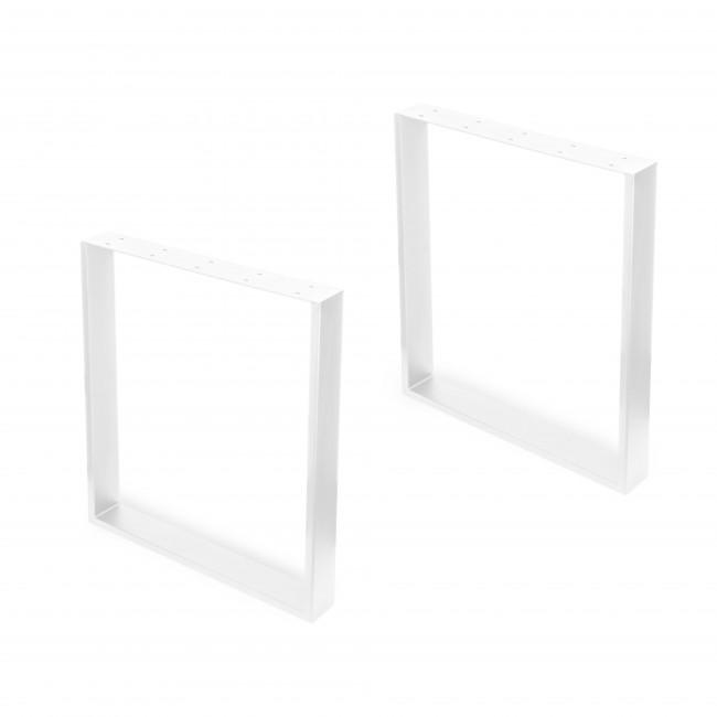 Pied rectangulaire pour table - hauteur 720 mm - jeu de 2 - Square EMUCA