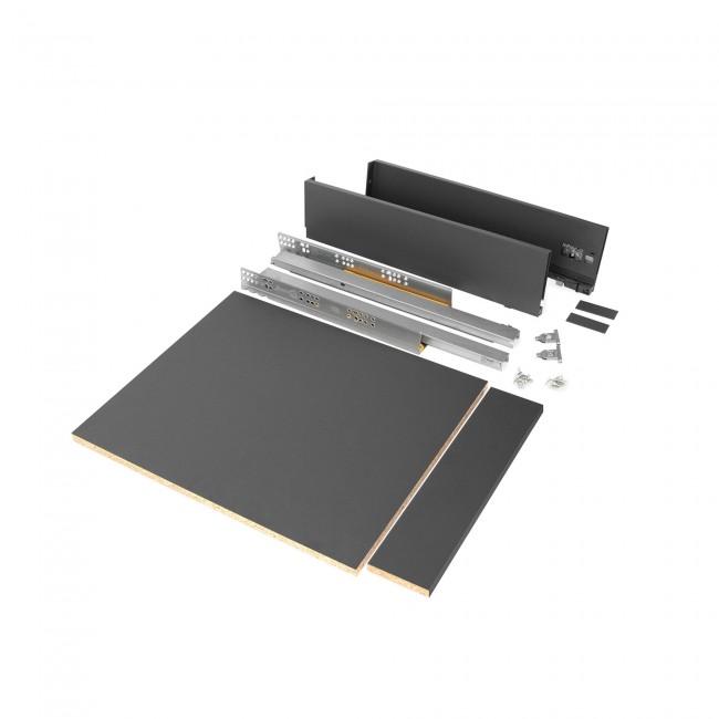 Kit tiroir complet Vertex - hauteur 93 mm - gris anthracite EMUCA