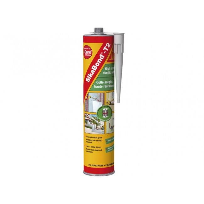 Colle mastic blanc – cartouche de 300 ml – Sikabond T2 I-cure SIKA