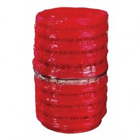 Grillage avertisseur rouge - avertissement électricité - 30 cm x 100 m INTERPLAST