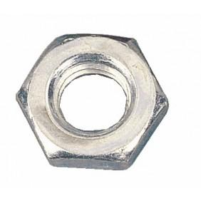 Écrous hexagonaux bas - acier zingué - classe 6 BAFA