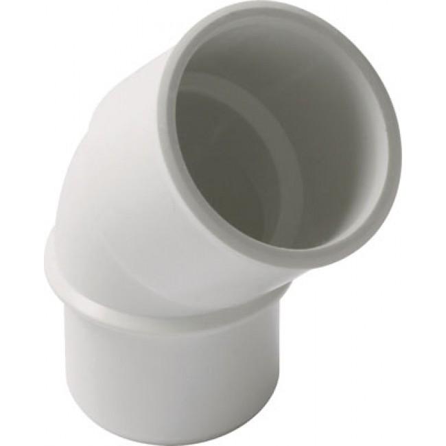 Coude PVC blanc 45° mâle / femelle NICOLL