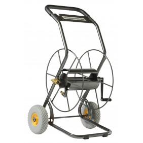 Chariot dévidoir métallique - 2 roues luxe - 85 m de tuyau HAEMMERLIN