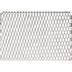 Métal déployé 7.10.10 pour grilles et cheminées-maille 7x10mm-argent RIVINOX