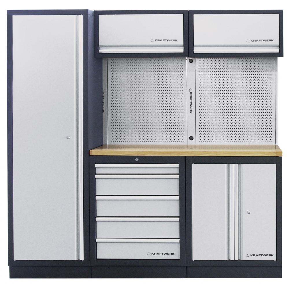 Plan De Travail Bois 280 meuble d'atelier modulaire 3 éléments plan de travail au choix mobilio  kraftwerk sur bricozor
