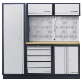 Meuble d'atelier modulaire 3 éléments plan de travail au choix MOBILIO KRAFTWERK
