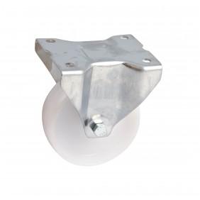 Roulette sur platine inox fixe - bandage polyamide - chape renforcée AVL