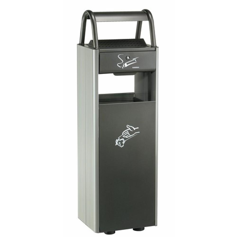 Cendrier poubelle ext rieur poser rossignol bricozor for Cendrier exterieur