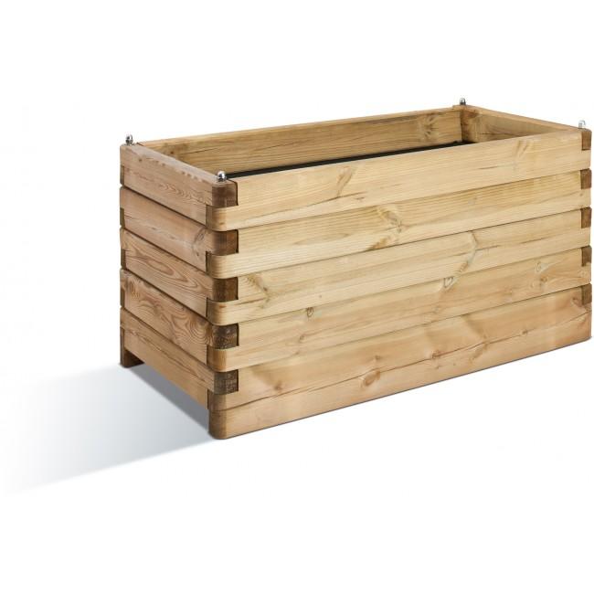 Jardinière en bois - 50 x 100 cm - 134 litres - Oléa 100 JARDIPOLYS