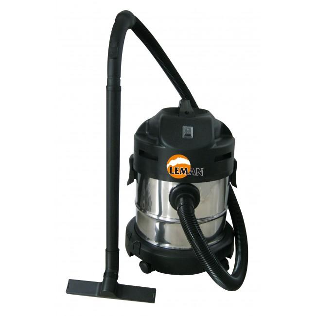 Aspirateur eau et poussière inox 20 L 1250W LOASP201 LEMAN