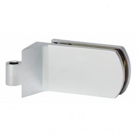 Paire de fiches entailler pour porte en verre chrom velours 8914 m talux bricozor - Groom pour porte en verre ...