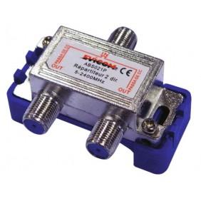 Répartiteur TV - 2 à 8 sorties - 2400 MHz - fiche F EVICOM