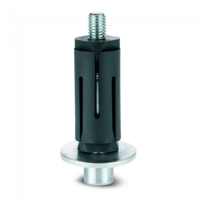 Fixations expansibles pour roulettes - tube rond - 100 kg - inox TENTE
