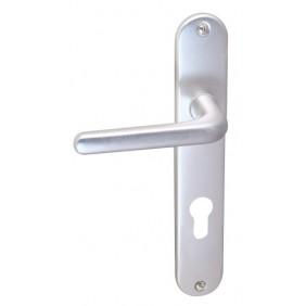 Poignées de porte sur plaques - entraxe 195 mm - aluminium BRICOZOR