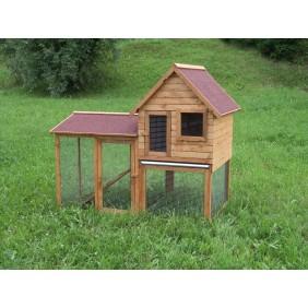 Clapier à lapins en bois Duplex