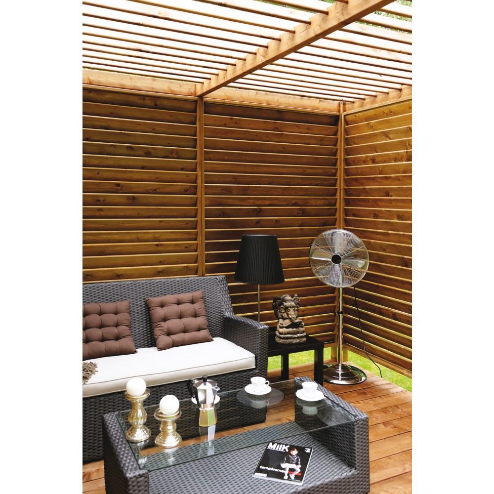 pergola en bois 256 x 256 cm 6 6 m2 cubik. Black Bedroom Furniture Sets. Home Design Ideas