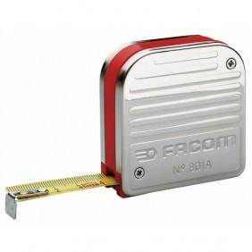 Mètre à ruban de mécanicien - 2m x 16 mm - boîtier inox FACOM