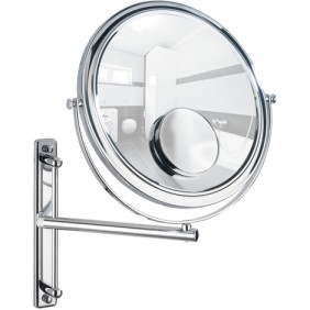 Miroir grossissant x3 et x7 - Bivona - support mural - Bras articulé WENKO