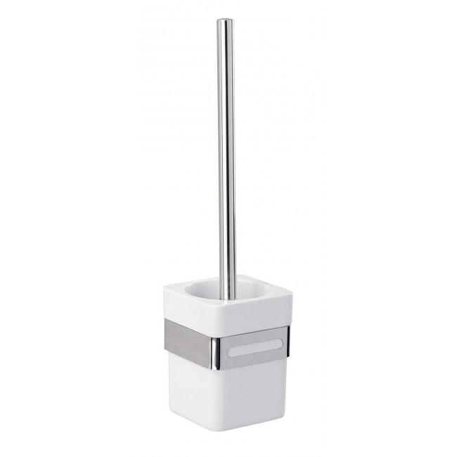 Brosse WC avec support mural - Acier inox et ABS - Premium WENKO