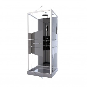 Cabine de douche Study - 3 dimensions - porte pivotante AURLANE