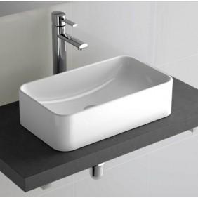 Vasque céramique rectangulaire à poser Sensation 45,8 x 28,5 cm SALGAR