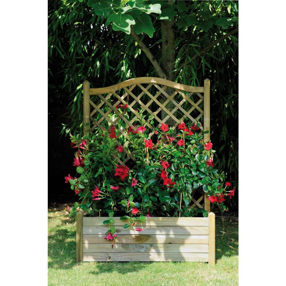 bac fleurs avec treillage 64 5 litres 80 x 40 cm lierre arc 80 jardipolys bricozor. Black Bedroom Furniture Sets. Home Design Ideas