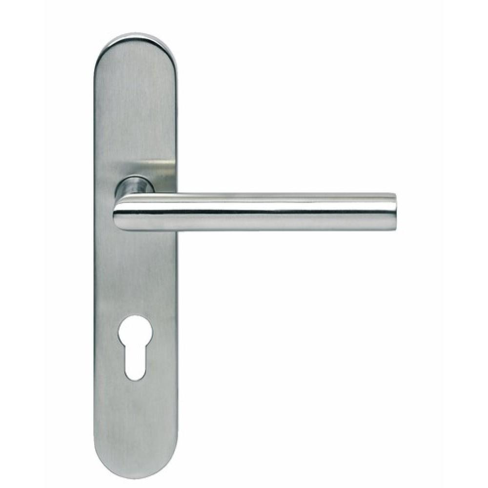 Poign es de porte sur plaques est 21 normbau bricozor - Plaque poignee de porte ...