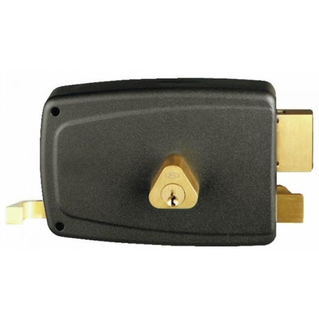 Serrure en applique horizontale à tirage - cylindre rond - Match JPM