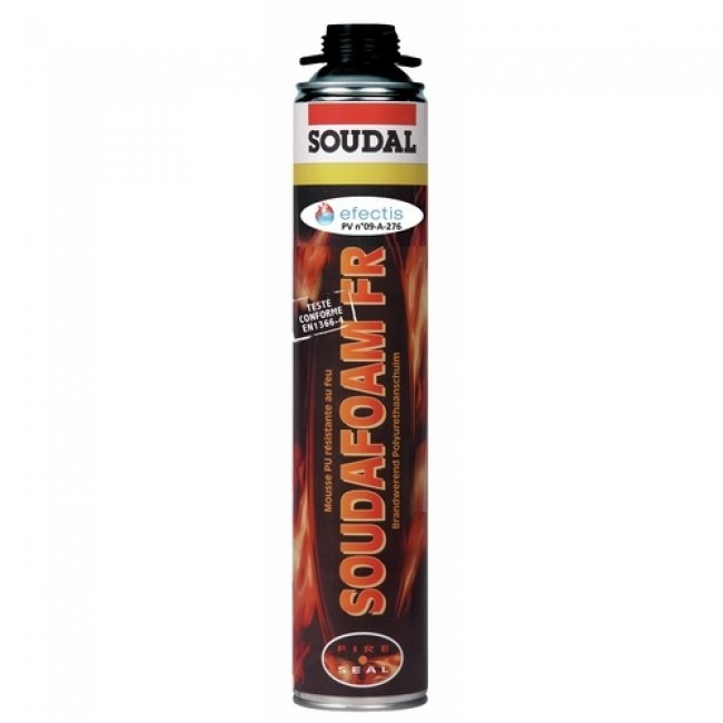Mousse polyuréthane coupe-feu SOUDAFOAM, bombe pistolable 750 ml