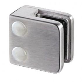 Pinces à verre pour garde-corps - 45x45 mm - Inox brossé IGS