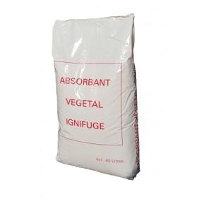 Absorbant végétal - ignifugé - universel - 40 litres BRICOZOR