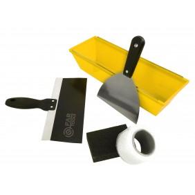 Kit pour enduire - bac, couteau, ruban, éponge et jointeuse FARTOOLS