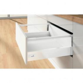 Kit tiroir tringles InnoTech Atira-H176 mm-sans coulisses-blanc HETTICH