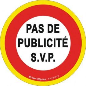 Disque d'interdiction adhésif fluorescent - Pas de publicité NOVAP