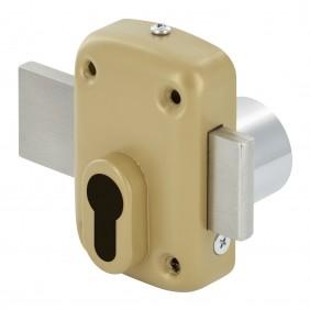 Verrou de sûreté pour cylindre européen - avec protège cylindre DEVISMES