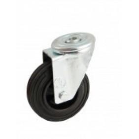 Roulette à bandage caoutchouc noir à oeil pivotant AVL