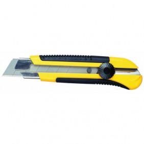 Cutter à lame de 25 mm inoxydable - manche bi-matière DynaGrip™ STANLEY
