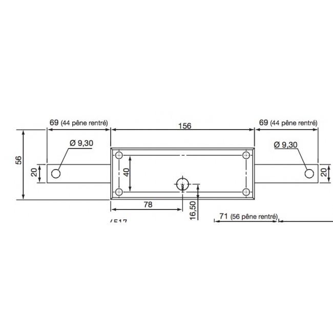 Serrure de rideau m tallique 4517n cylindre rond vachette bricozor - Rideau metallique garage ...