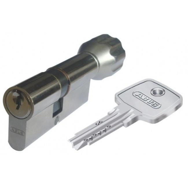 Cylindre à bouton varié débrayable nickelé – ec-s ABUS