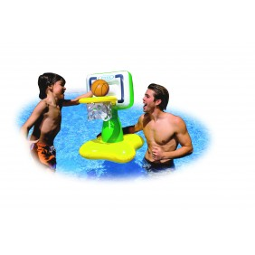 Panneau de basket et ballon pour la piscine : vert et jaune Intex
